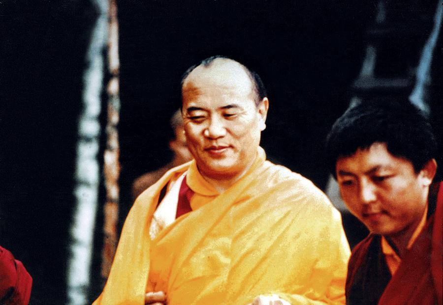 XVIme Karmapa avec un jeune Jigme Rinpoche