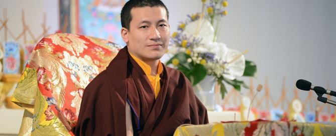 Le Gyalwa Karmapa à Dhagpo en 2013