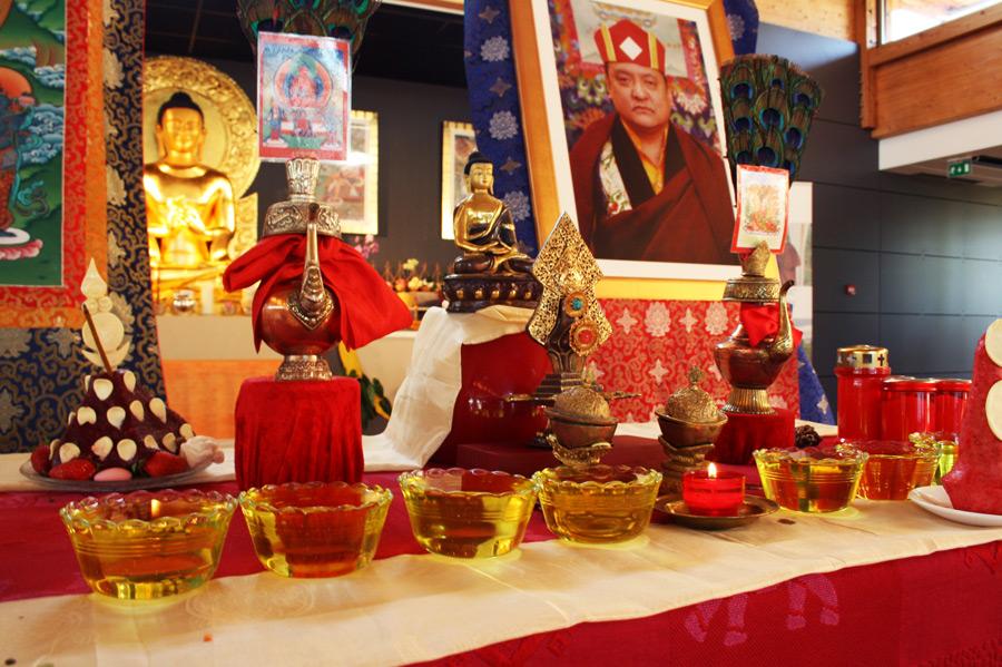 autel d'Amitabha pour Shamarpa