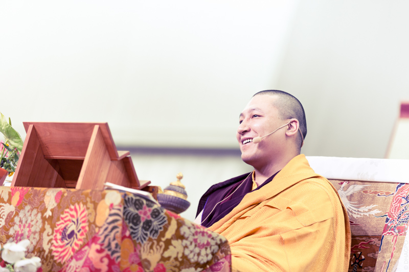 """""""The second day in the presence of Thaye Dorje, His Holiness the XVIIth Gyalwa Karmapa, is dedicated to a teaching on refuge and the enlightened mind..."""""""