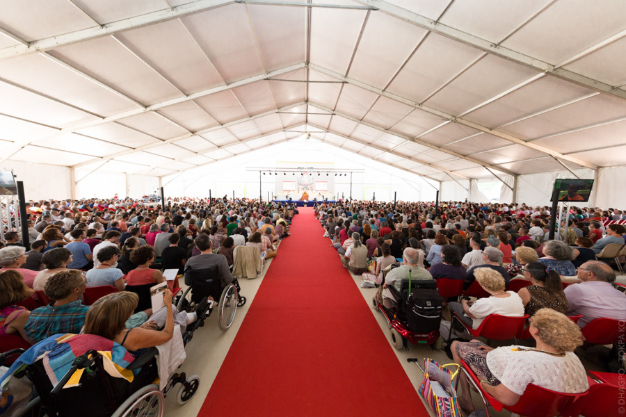 """By the end of the morning, the great tent was packed."""