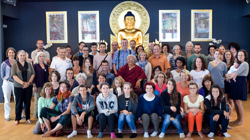 """August 22 and 23, an inter-generational seminar called ""Buddhism and Education"" took place for the first time at Dhagpo."""