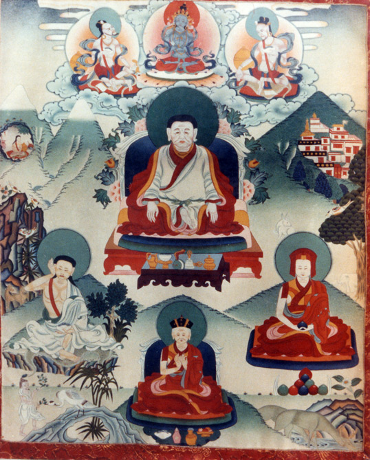 une tanka de Marpa, Milarepa, Gampopa, et le premier Karmapa
