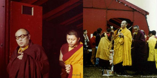 Karmapa a scellé la bénédiction de la lignée karma kagyü en terre périgourdine