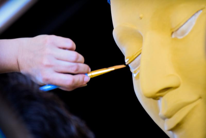 """""""Cette œuvre consciencieuse, bien que « limitée » à la tête de la statue, a duré trois jours."""""""