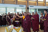 Kunzig Shamar Rinpoche inaugurates the building on 13 June 2013