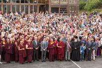 Kunzig Shamar Rinpoche inaugurates the building on 13 June 2013, in the presence of government representatives and masters of the lineage