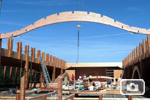 Laying of the roof beams - © KDC