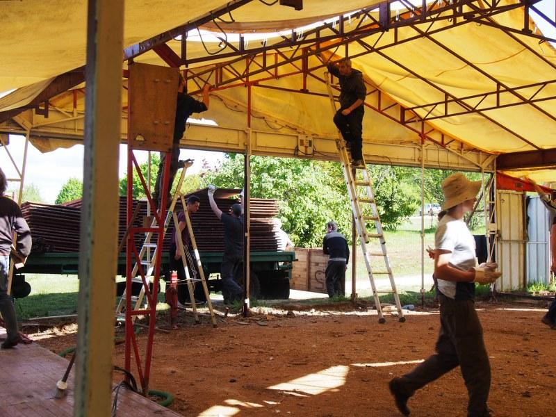 La grande tente de Dhagpo – dite « la retonde » – n'est plus là !