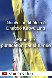 Nouvel an tibétain à Dhagpo Kagyu Ling - Rituel de purification par la fumée